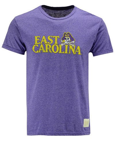 Retro Brand Men's East Carolina Pirates Retro Mock Twist Team Logo T-Shirt