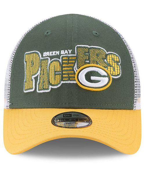 buy online ab69c ece76 ... release date new era boys green bay packers trucker joy 9forty cap  sports fan 3272d 88ef2
