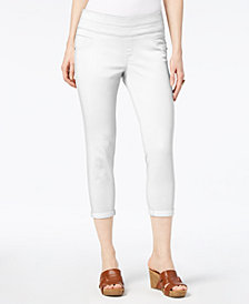 Style & Co Petite Cropped Pull-On Pants, Created for Macy's