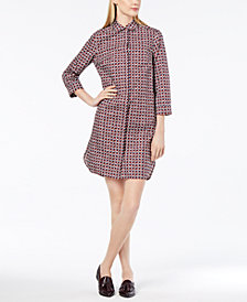 Weekend Max Mara Cotton Plaid Shirtdress