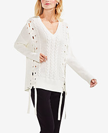 Vince Camuto Lace-Up Sweater