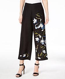 Vince Camuto Floral-Print Wide-Leg Pants