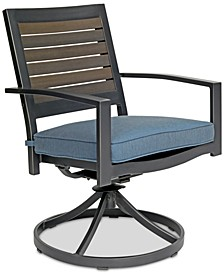 CLOSEOUT! Harlough II Outdoor  Swivel Rocker with Sunbrella® Cushion, Created for Macy's