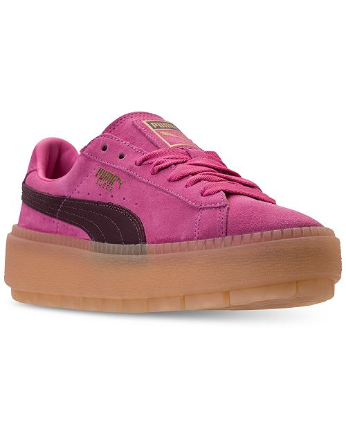 7ca4a5ec925 ... Puma Women s Suede Platform Rugged Casual Sneakers from Finish ...