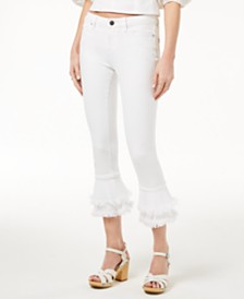1.STATE Tiered Flared Jeans