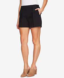 1.STATE High-Waist Lace-Up Shorts