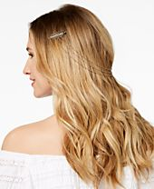 I.N.C. Mixed Metal Crystal Hair Swag, Created for Macy's