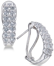 Diamond Hoop Earrings (1 ct. t.w.) in 10k White Gold & Yellow Gold