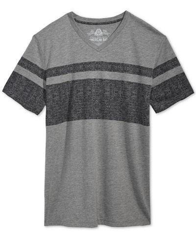 American Rag Men's Double Stripe V-Neck T-Shirt, Created for Macy's