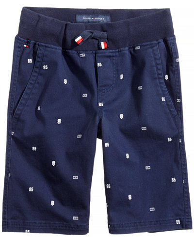 Tommy Hilfiger Printed Pull-On Shorts, Little Boys