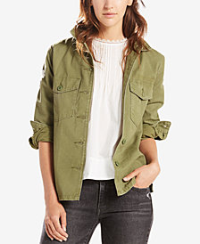 Levi's® Cotton Army Embroidered Shirt Jacket