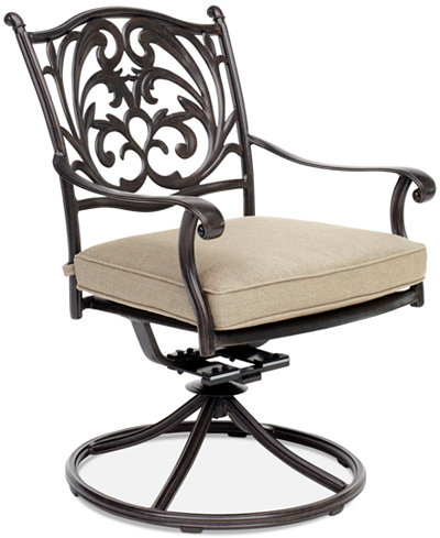 Chateau Aluminum Outdoor Dining Swivel Rocker with Sunbrella® Cushion, Created for Macy's