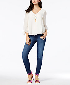 Thalia Sodi Necklace Top & Pull-On Jeggings, Created for Macy's