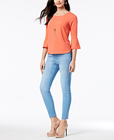 Thalia Sodi Necklace Top & Jeggings, Created for Macy's