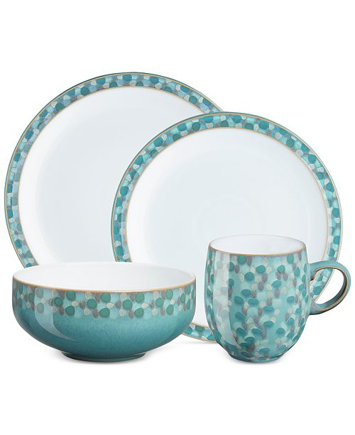 Denby Azure Shell Collection 4-Piece Place Setting Boxed Set
