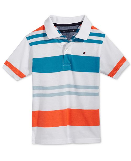 869daa3845 Tommy Hilfiger Shawn Striped Polo, Toddler Boys & Reviews - Shirts ...