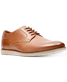 Clarks Men's Raharto Leather Plain-Toe Oxfords
