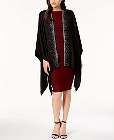 Calvin Klein Studded Satin Evening Cape