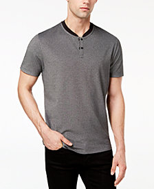 Alfani Men's Birdseye Henley, Created for Macy's