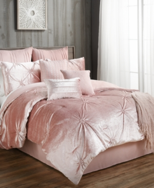 Sherrie 10Pc Velvet Queen Comforter Set Bedding