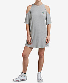 Volcom Juniors' Hi Tea Cold-Shoulder Dress