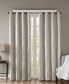Mirage Knit Damask Total Blackout Window Panels