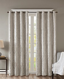 "SunSmart Mirage 50"" x 84"" Knit Damask Total Blackout Window Panel"