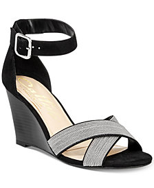 Callisto Montana Crisscross Wedge Sandals, Created for Macy's