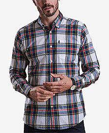 Barbour Men's Oscar White Plaid Oxford Shirt