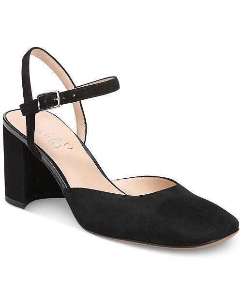 08d8be9d5ce2 Franco Sarto Lavita Block-Heel Pumps   Reviews - Pumps - Shoes - Macy s