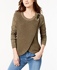 I.N.C. Petite Tulip-Hem Sweater, Created for Macy's