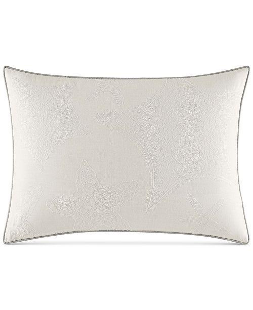 "Nautica Ripple 14"" x 20"" Starfish Embroidery Decorative Pillow"