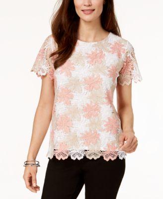 ff861fcd709e5b Alfred dunner petite la dolce vita floral crochet top tops tif 500x613 Dunner  tops alfred dresses