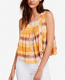 Free People Vintage Striped Cotton Top