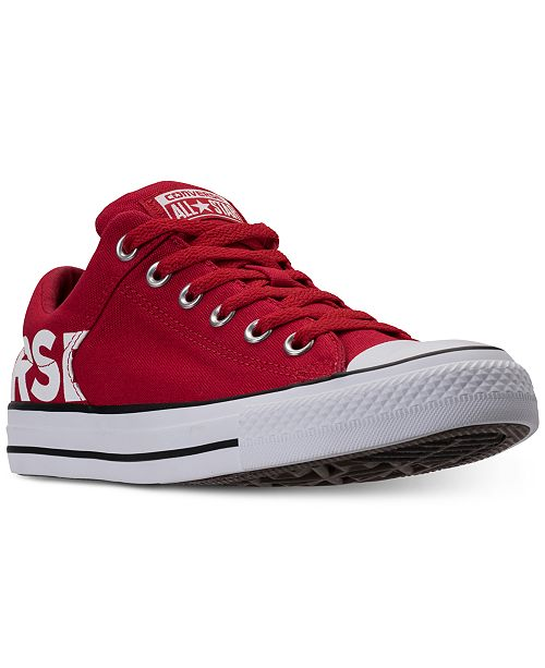 d55ff4ed61f4 ... Converse Men s Chuck Taylor All Star Wordmark Low Top Casual Sneakers  from Finish ...