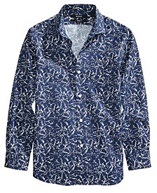 DKNY Marbled-Print Shirt, Big Boys