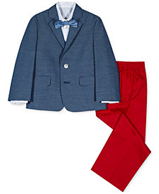 Nautica 4-Pc. Blazer, Shirt, Pants & Bowtie Set, Little Boys