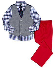 Nautica 4-Pc. Vest, Shirt, Pants & Necktie Set, Little Boys