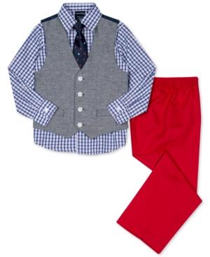 Nautica 4Pc Vest Shirt Pants  Necktie Set Toddler Boys