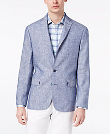CLOSEOUT! Ryan Seacrest Distinction™ Men's Modern-Fit Solid Linen Sport Coat, Created for Macy's