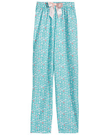 Max & Olivia Graphic-Print Pajama Pants, Little Girls & Big Girls