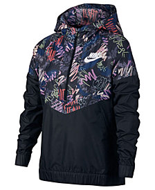 Nike Wind Runner Sportswear Jacket, Big Girls
