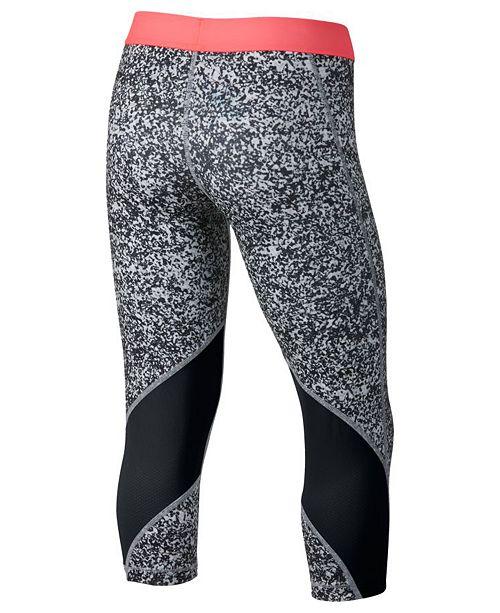 040b51d1b Nike Dri-FIT Pro Printed Capri Leggings, Big Girls & Reviews ...
