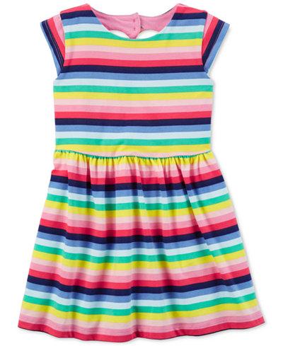 Carter's Striped Heart Cut Out Dress, Little Girls & Big Girls