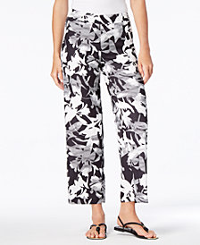 JM Collection Printed Straight-Leg Pants, Created for Macy's