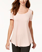 2b6b3621eb6 JM Collection Cold-Shoulder Swing T-Shirt, Created for Macy's