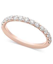 Pave Diamond Band Ring in 14k Gold, Rose Gold or White Gold (1/2 ct. t.w.)