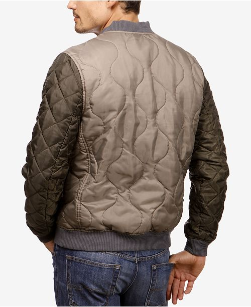 c8b4df4ce Lucky Brand Men's Quilted Colorblocked Bomber Jacket & Reviews ...