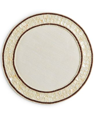 CLOSEOUT! Mother of Pearl with Wood Bead Placemat