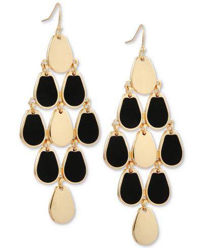 Guess gold tone jet stone chandelier earrings jewelry watches guess gold tone jet stone chandelier earrings aloadofball Image collections
